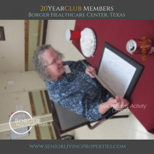 20 Year Club Member Joyce Williams