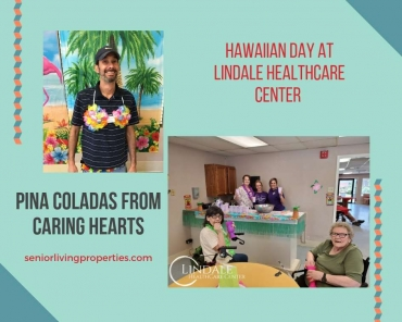 Hawaiian Day at Lindale Healthcare Center