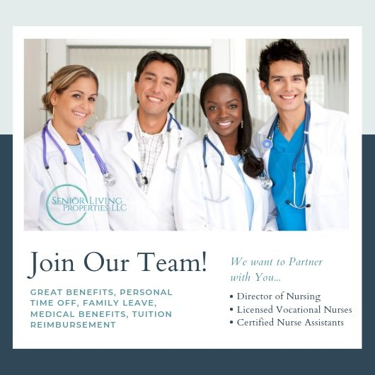 Senior Living Properties is Hiring