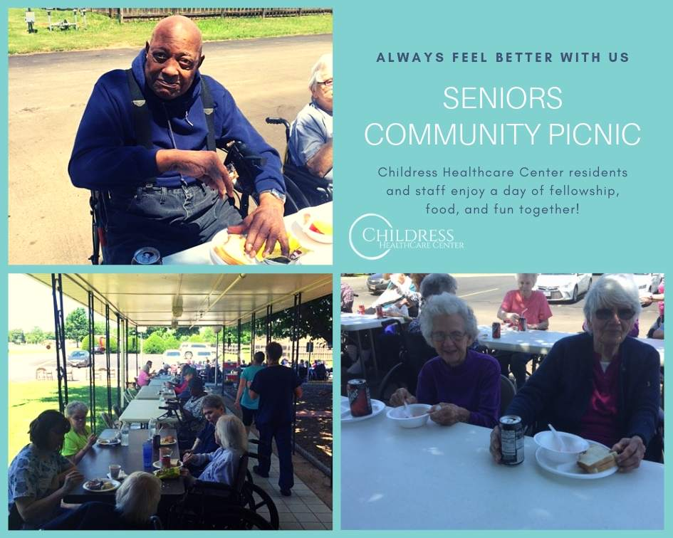 Seniors Community Picnic at Childress Healthcare