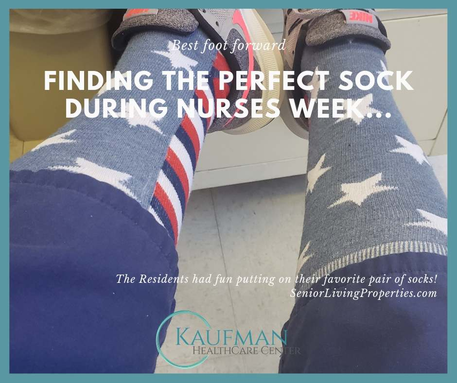 Kaufman Healthcare Center Resident's crazy sock day!
