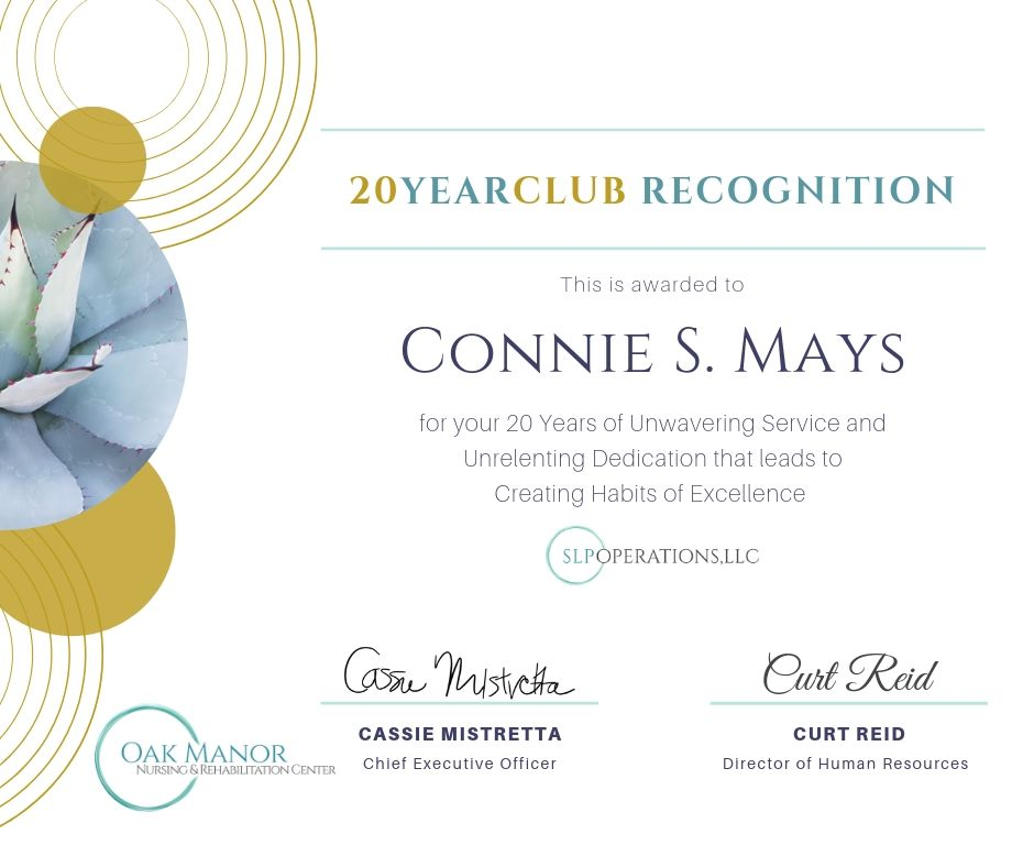 20+ Years of Service Celebration!